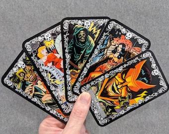 "Horror Comic Tarot Card Stickers (5 1/8"" x 3"")"