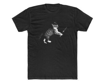 Kitten with Knife Next Level T-Shirt