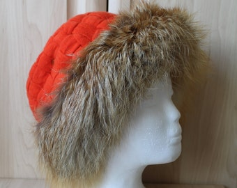 fd7937a689f96 Vintage Real Red Fox Fur Hat H2