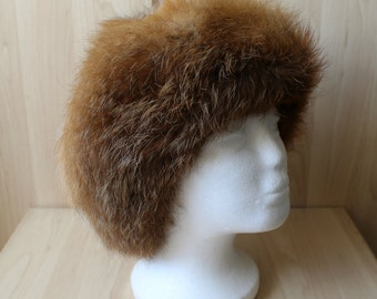 bc82a3afe6db5 Vintage Real Red Fox Fur Hat H4