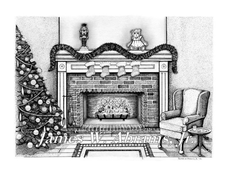 Christmas Fireplace Scene