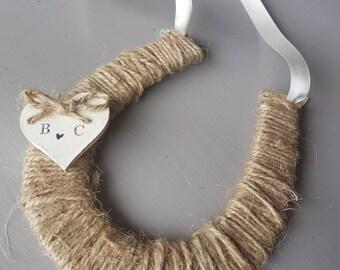 Twine personalised horseshoe / good luck gift