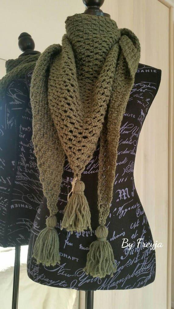 Shawl Scarf Shawl Scarf Crochet Boho Style Wool Scarf Etsy