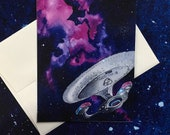 Enterprise-D Blank All Occasions Greeting Card
