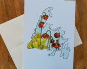 Greeting Card Newfoundland Pitcher Plant Canadian Provincial Flowers