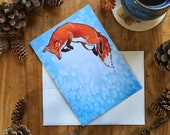 Jill's Fox Blank All Occasions Greeting Card