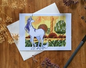 Last Unicorn Blank All Occasions Greeting Card