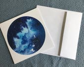 BLUE AURORA Greeting Card...