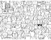 CATastrophe, Coloring Book, Coloring Card Cat, Coloring Card