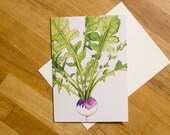 Turnip Greeting Card 5x7 Botanical Blank Card, All Occasion Card,