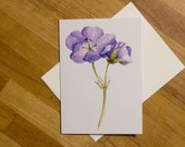 Cranesbill Greeting Card 5x7 Blank Greeting Card, Botanical Print