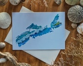 Nova Scotia Ocean Silhouette Blank All Occasions Greeting Card