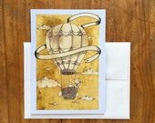 Looking for Chickens Blank All Occasions Greeting Card