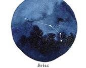 ARIES Constellation Zodiac Greeting Card Birthday Card Astronomy Stars