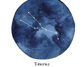 TAURUS Constellation Zodiac Greeting Card Birthday Card Astronomy Stars