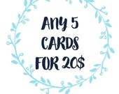 Any 5 Greeting Cards