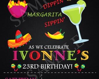 Fiesta Birthday Invitation-Digital Printable File