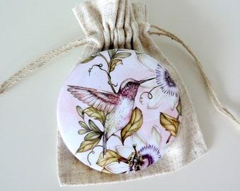 Swallow bird Pocket Mirror tartx