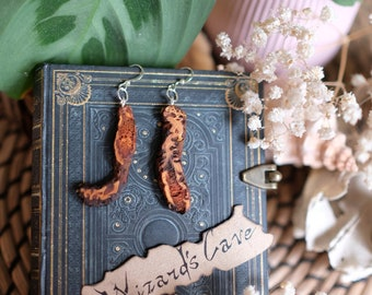 Natural Strawberry Root Dangle Earrings