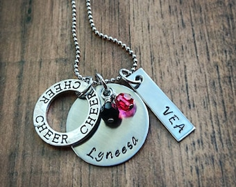 Petite Bar Necklace Personalized*Metal Stamped Any Word you Want!*Jersey #*Name*Significant Date*I love you!*#1 Mom*Inspiration*Custom gifts