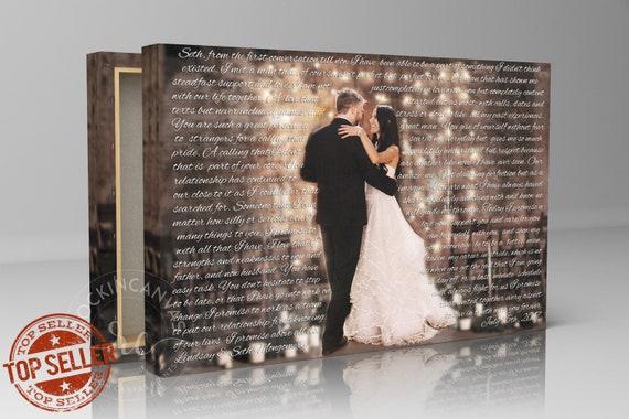 Wedding First Dance Song Lyrics Song Lyrics Canvas Art 1st Etsy