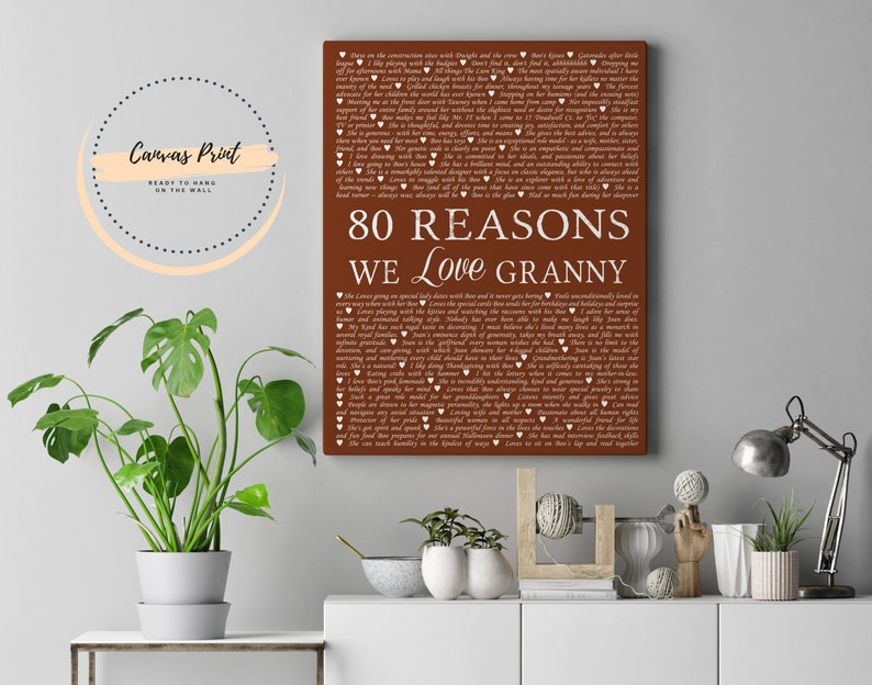70th Birthday Gift For Mom Grandma Reasons We Love