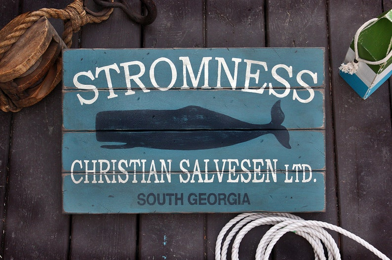 Vintage wooden sign 'Stromness South Georgia' image 0
