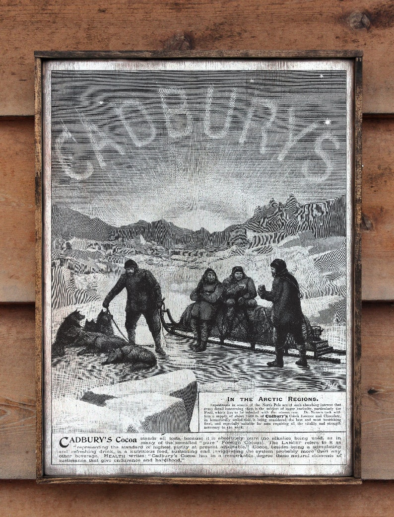 Vintage wooden sign ' CADBURYS Expedition ' image 0