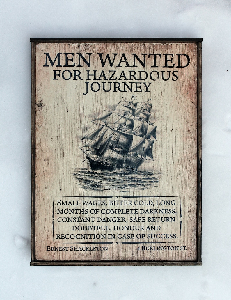 Handmade wooden sign ' Men Wanted ' Commemorating image 0