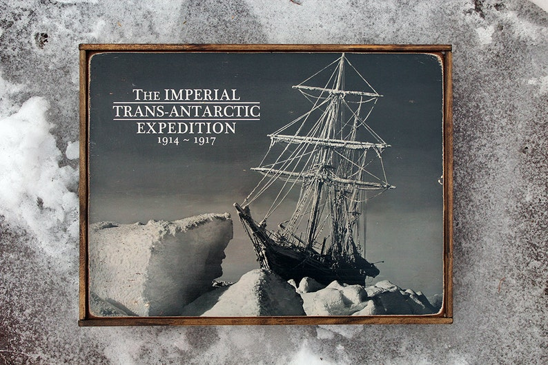 Vintage wooden sign 'Imperial Trans Antarctic image 0