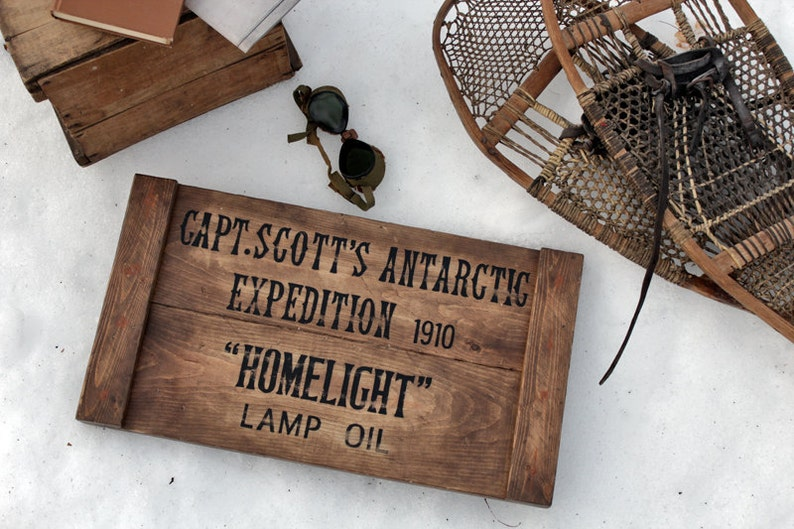 Vintage wooden sign ' Scott's Antarctic Expedition image 0