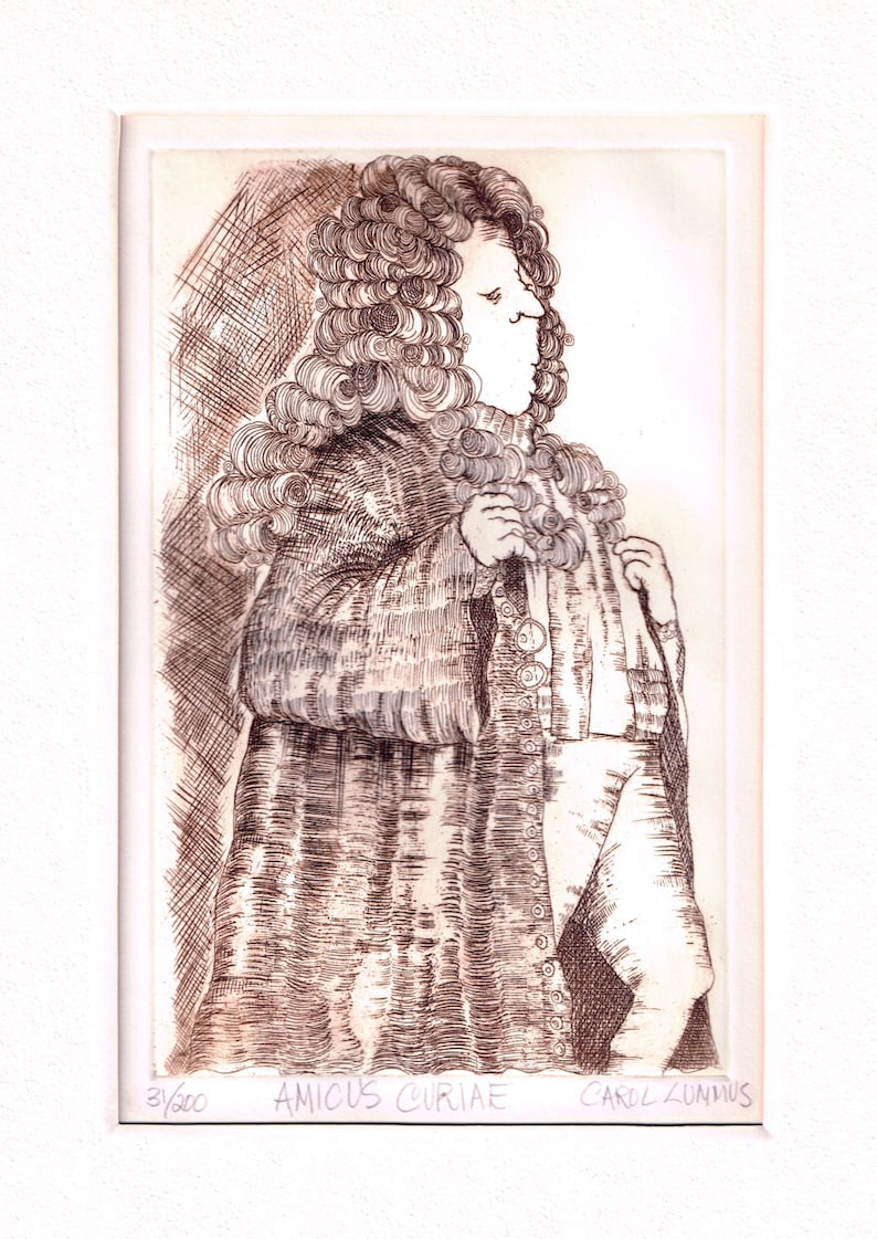 Original Limited Edition Copper Plate Etching By Carol Travers Lummus SIGNED /& NUMBERED Engraving Fine Art Print