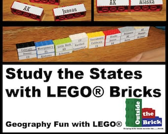 Study the States with LEGO® Bricks (Digital File Download)