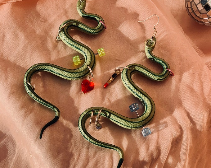 Pierced Snake Earrings