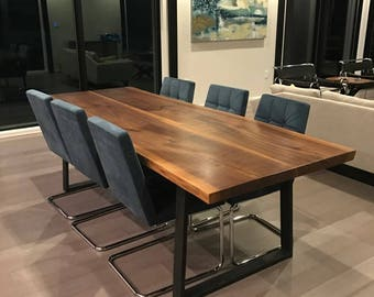 Surprising Live Edge Dining Table Etsy Creativecarmelina Interior Chair Design Creativecarmelinacom