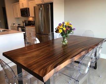 Excellent Live Edge Dining Table Etsy Creativecarmelina Interior Chair Design Creativecarmelinacom