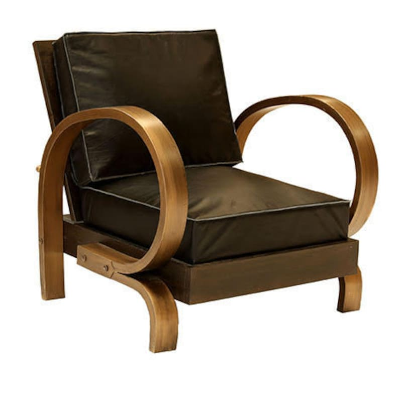 Brooklyn Rounded Arm Chair Lounge Living Room