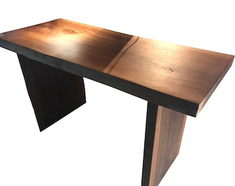 Live Edge Walnut desk, wood desk table, home office desk, walnut table, walnut dining table, walnut furniture, Free Shipping