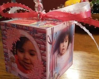 Photo block, Memory block, Photo Ornament, 1st Christmas, 1st Birthday, Wedding, Shower, Sport block, Anniversary,  Personalized