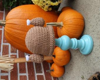 Crochet turkey leg hat