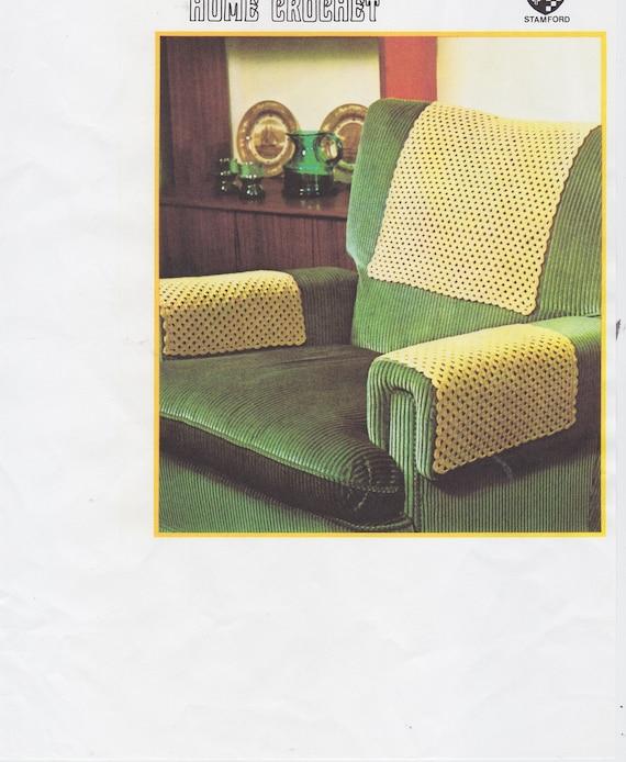Swell Pdf Pattern Crochet Chair Covers Anti Macassar Cloths Vintage Crochet Pattern Using No 20 Crochet Cotton Machost Co Dining Chair Design Ideas Machostcouk