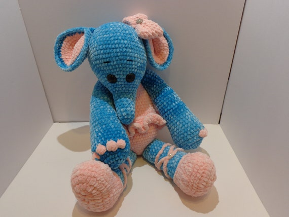 Ellie The Big Elephant Stuffed Animal Etsy
