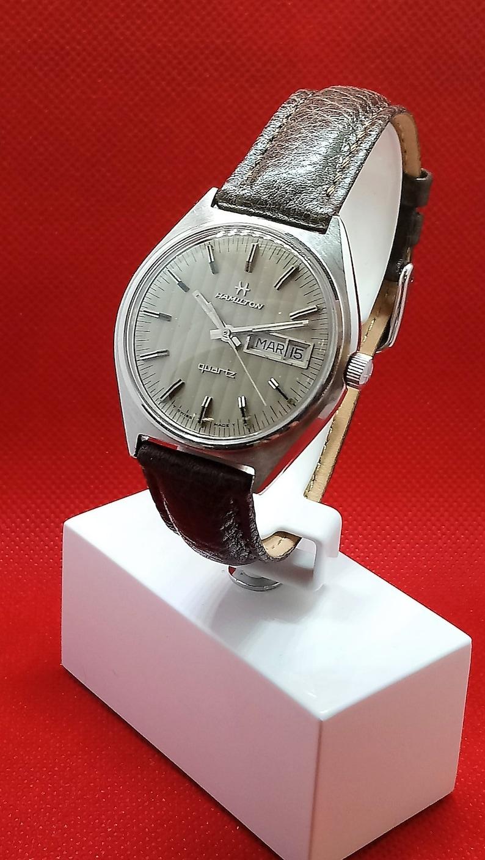 3a66fc7f2db Vintage Hamilton Swiss-Made Mens Quartz Watch Stainless Day