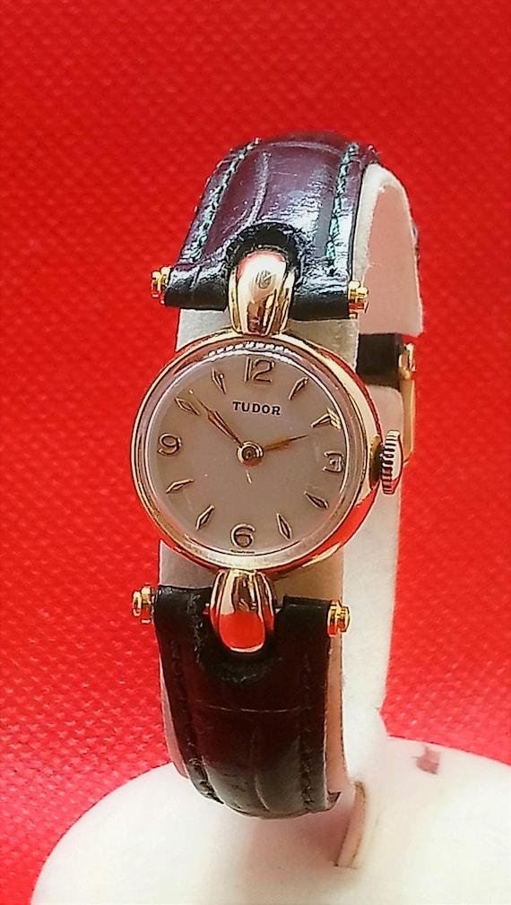 9K Gold Womens Rolex Tudor Watch – Authentic Rolex