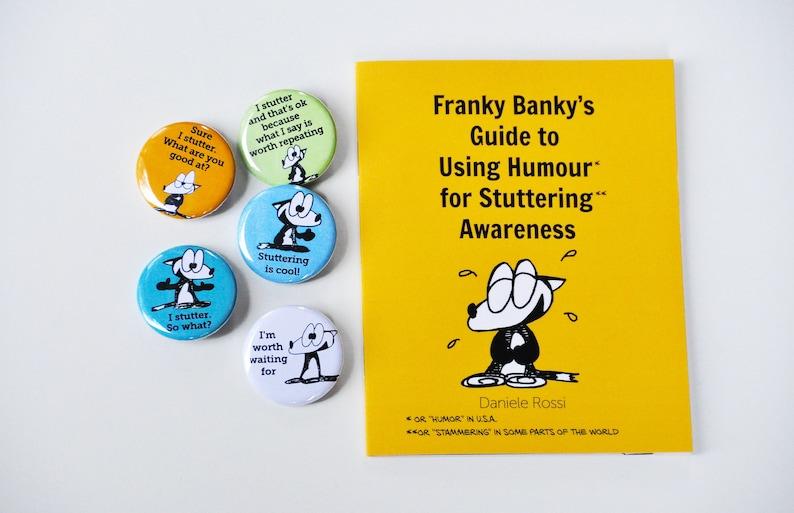 Stuttering awareness pins/badges 5-pack image 0