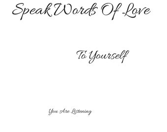 Speak Words Of Love Printable PDF,Printable Art,Pdf,Art,Printable Quotes,Digital