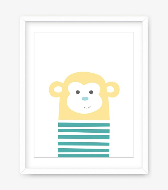 Druckbare Kinderzimmer Poster - Drucke Tierkindergarten - Affe zum  Ausdrucken Kinder Wandkunst - Kinderzimmer Dekor - Kinderzimmer Kunst  Download - ...