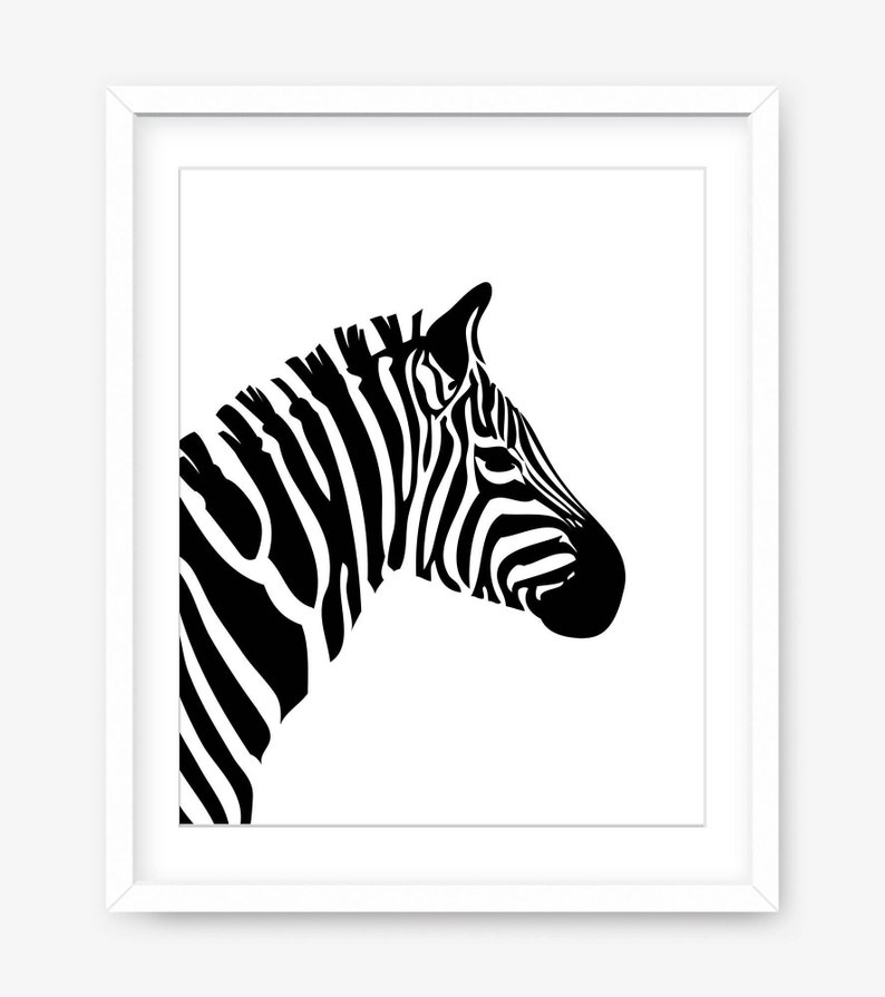 picture regarding Printable Zebra Pictures identified as Zebra print - printable artwork - printable zebra artwork - printable poster - black and white artwork - progressive artwork print - wall artwork - Electronic Down load