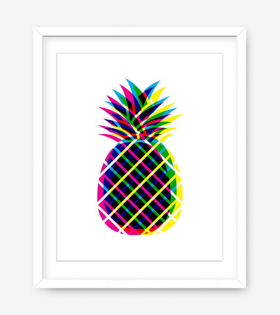 image regarding Printable Pineapple referred to as Printable revolutionary artwork - cmyk printable pineapple print - ambitious print - kitchen area print - printable artwork - pineapple wall artwork - Electronic Down load