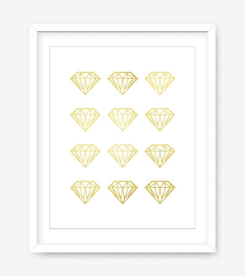 Printable diamond art  gold printable art  printable gold image 0